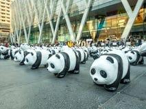 World tour 1,600 pandas in Bangkok Stock Images