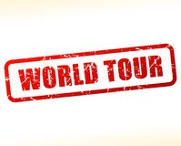 Free World Tour Red Text Stamp Stock Photo - 107539190
