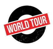 World Tour rubber stamp Stock Image
