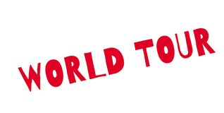 World Tour rubber stamp Stock Images