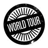 World Tour rubber stamp. Grunge design with dust scratches. Effects can be easily removed for a clean, crisp look. Color is easily changed Stock Photo
