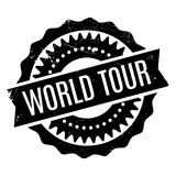 World Tour rubber stamp. Grunge design with dust scratches. Effects can be easily removed for a clean, crisp look. Color is easily changed Royalty Free Stock Photos