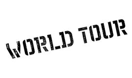 World Tour rubber stamp. Grunge design with dust scratches. Effects can be easily removed for a clean, crisp look. Color is easily changed Stock Image