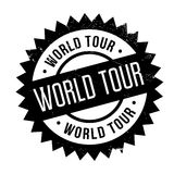 World Tour rubber stamp. Grunge design with dust scratches. Effects can be easily removed for a clean, crisp look. Color is easily changed Royalty Free Stock Photo