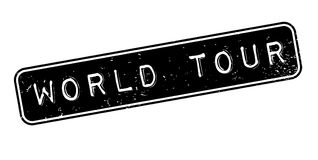 World Tour rubber stamp Royalty Free Stock Photos