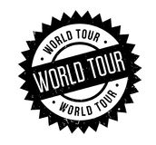 World Tour rubber stamp Royalty Free Stock Photo