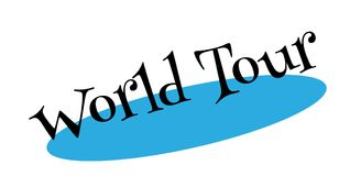 World Tour rubber stamp Royalty Free Stock Images