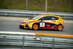 World touring car championship in brno 2009 Muller Royalty Free Stock Image