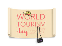 World tourism day, September 27 stock image