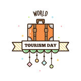 World Tourism Day. Vector illustration. World Tourism Day. Vector illustration of a suitcase Royalty Free Stock Images