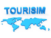 World Tourism Represents Planet Travelling And Earth. Tourism World Meaning Travel Tourist And Globalisation Royalty Free Stock Image