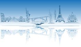 World tourist destination. Vector illustration Royalty Free Stock Image