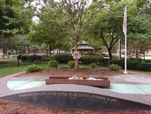 World Trade Center, στις 11 Σεπτεμβρίου 2001, μνημείο, Rutherford, NJ, ΗΠΑ στοκ φωτογραφία με δικαίωμα ελεύθερης χρήσης