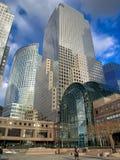 World Trade Center. Crystal buildings at the entrance of the Winter Garden Stock Photos