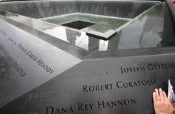 World Trade Center 9/11 Denkmal Stockbild