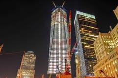 World Trade Center in aanbouw Stock Afbeeldingen