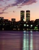 World Trade Center au crépuscule New York 1999 Photos stock