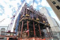 1 World Trade Center bajo construcción, Nueva York Imágenes de archivo libres de regalías