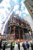 1 World Trade Center bajo construcción, Nueva York Imagen de archivo libre de regalías