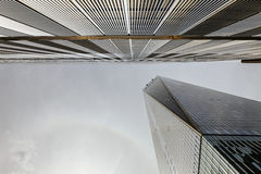 The World Trade Center from below royalty free stock photos