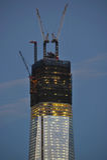 World Trade Center Construction. World Trade Center close up of construction at the top of the building Stock Photos