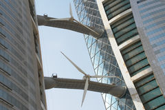 World Trade Center de Bahrein que construye al detalle Imagenes de archivo