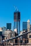 World Trade Center de Freedom Tower sob a construção 2011 Imagem de Stock Royalty Free