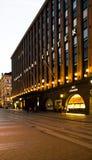 World Trade Center de Helsínquia no crepúsculo Fotografia de Stock Royalty Free