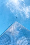 World Trade Center de la perspective une de recul Images stock