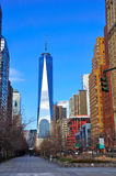 World Trade Center, de Stad van Manhattan, New York Royalty-vrije Stock Fotografie