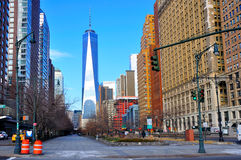 World Trade Center, de Stad van Manhattan, New York Stock Foto