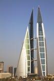 World Trade Center della Bahrain, Manama, Bahrain Fotografia Stock Libera da Diritti