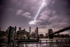 World Trade Center der Blitzschlag-einer Lizenzfreie Stockfotos