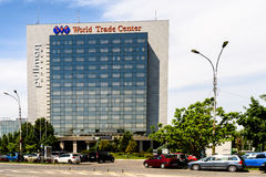 World Trade Center di Bucarest del pullman Fotografia Stock Libera da Diritti