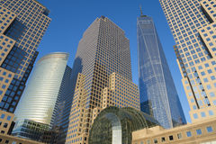 World Trade Center Downtown Manhattan Skyline Stock Image