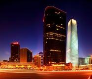 World Trade Center drie van Peking Royalty-vrije Stock Afbeelding