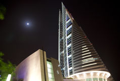 World Trade Center du Bahrain la nuit, Bahrain Photos libres de droits