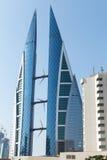 World Trade Center du Bahrain, ville de Manama Photographie stock