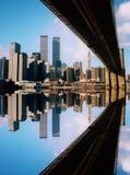 World Trade Center e ponticello Immagini Stock Libere da Diritti