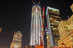 World Trade Center en construction Images stock