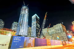World Trade Center en construction Images libres de droits