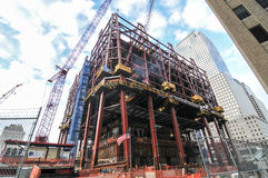 1 World Trade Center en construction, New York Images libres de droits