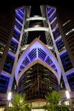 World Trade Center en la noche, Bahrein de Bahrein Imagen de archivo libre de regalías