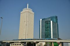 World Trade Center et hôtel Sheikh Rashid Building de Dubaï image stock