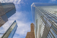 World Trade Center Freedom Tower from below Royalty Free Stock Image