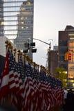 World Trade Center Freedom Tower de la ceremonia una de las banderas Foto de archivo libre de regalías
