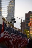 World Trade Center Freedom Tower der Flaggen-Zeremonie-eine Lizenzfreies Stockfoto