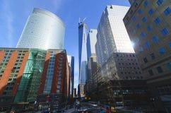 World Trade Center Freedom Tower e lugar de Brookfield Foto de Stock