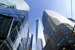 World Trade Center Freedom Tower en Brookfield Place Royalty-vrije Stock Afbeelding