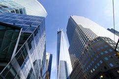World Trade Center Freedom Tower i Brookfield miejsce obraz royalty free